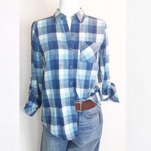 J Jill Flannel with pockets! Fall ready top